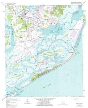 James Island topo map