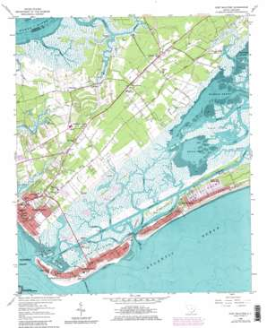 Fort Moultrie topo map