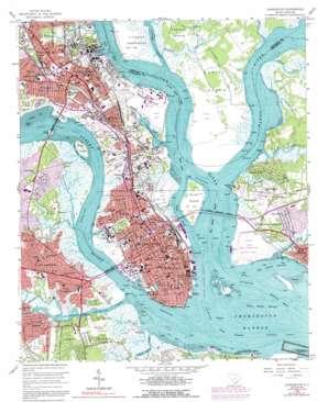 Charleston topo map