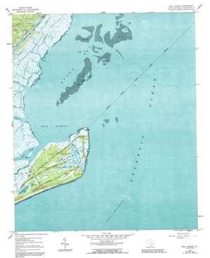 Bull Island topo map