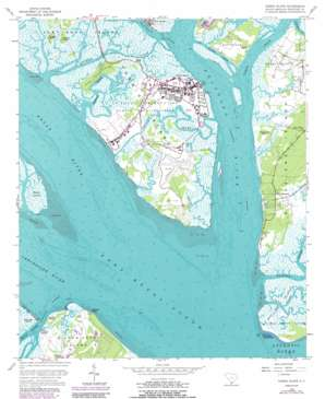 Parris Island topo map
