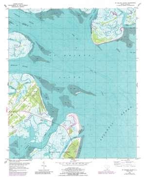 Saint Helena Sound USGS topographic map 32080d4