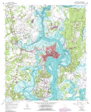 Beaufort topo map