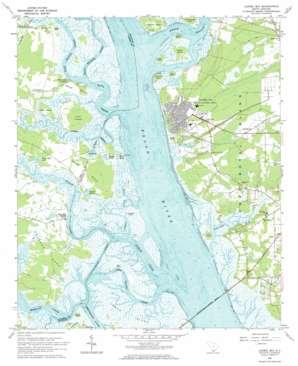 Laurel Bay topo map
