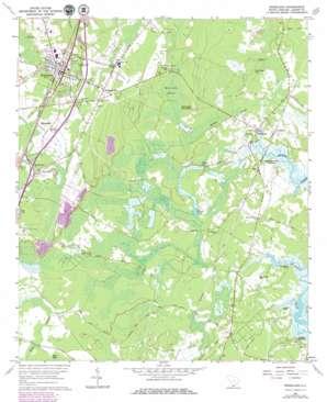Ridgeland topo map
