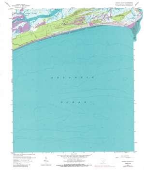 Kiawah Island topo map