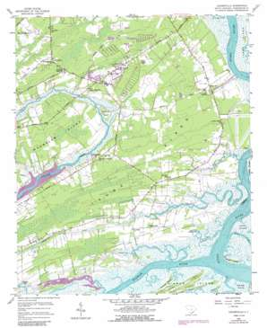 Legareville topo map