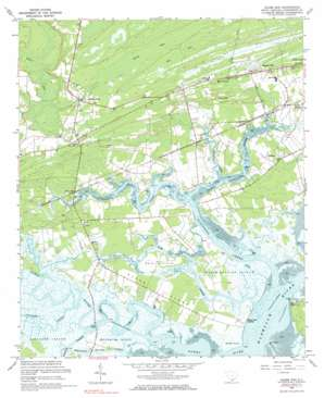 Adams Run topo map
