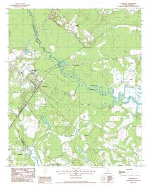 Yemassee topo map