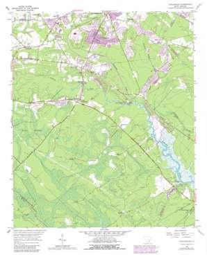 Stallsville topo map