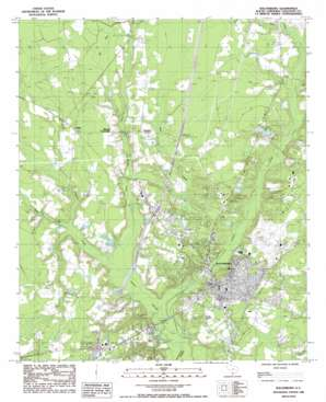 Walterboro USGS topographic map 32080h6