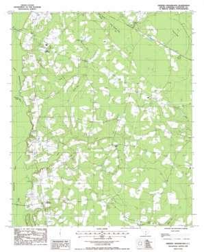 Sniders Crossroads topo map