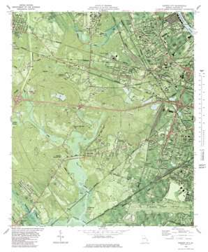 Garden City topo map