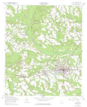 Claxton topo map