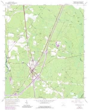 Hardeeville topo map
