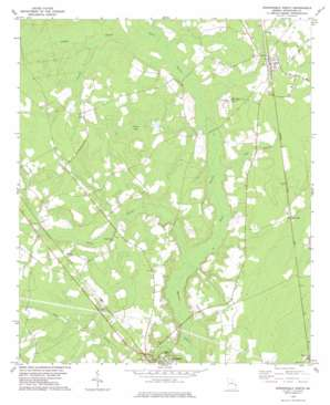 Springfield North topo map
