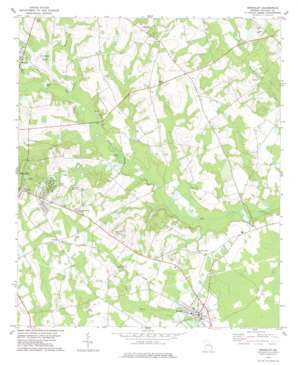 Brooklet topo map