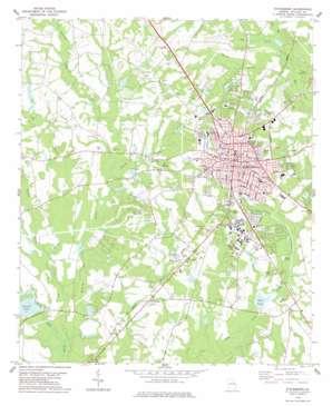 Statesboro topo map