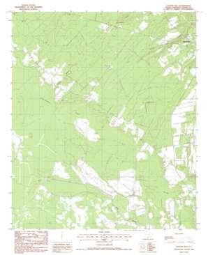 Calfpen Bay topo map
