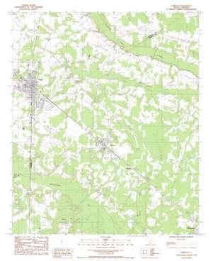 Fairfax topo map