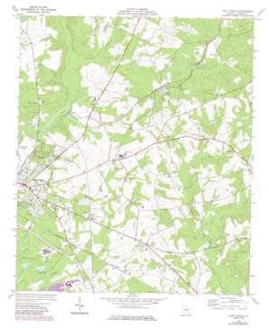 East Dublin topo map