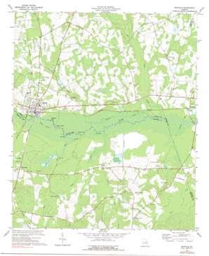 Midville topo map