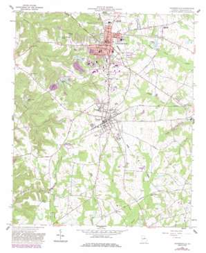 Sandersville topo map