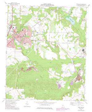 Perry East topo map