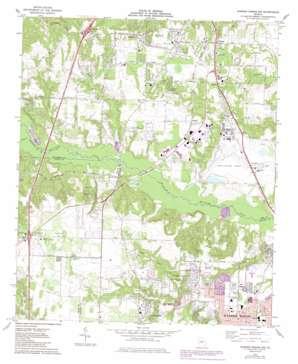 Warner Robins Nw topo map