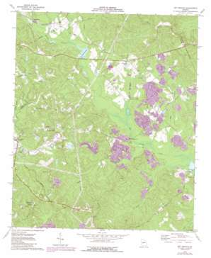 Dry Branch topo map