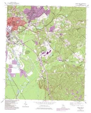 Macon East topo map