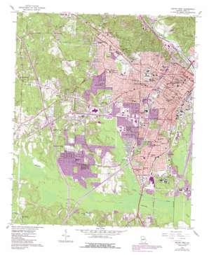 Macon West topo map