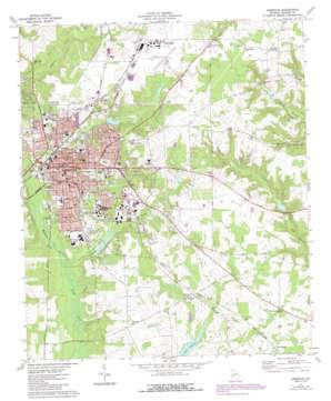 Americus USGS topographic map 32084a2
