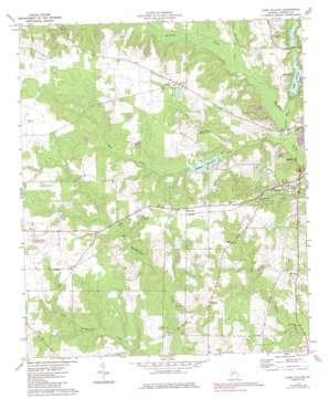 Lake Collins topo map