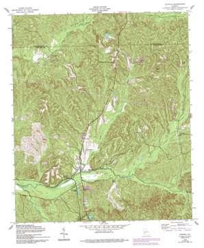 Louvale topo map