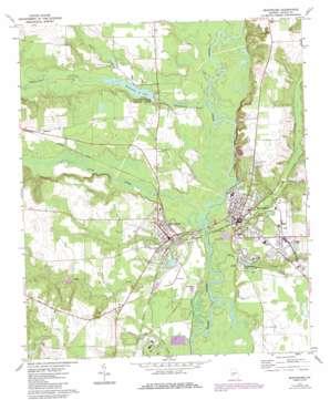 Montezuma topo map