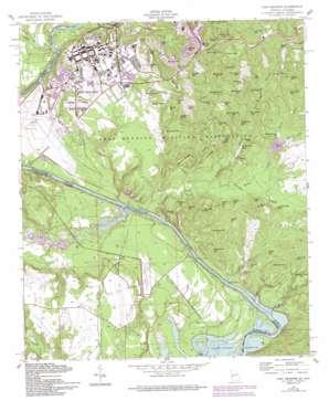 Fort Benning topo map