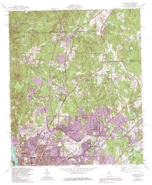Fortson topo map