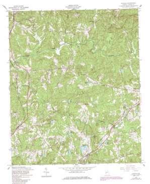 Cataula topo map