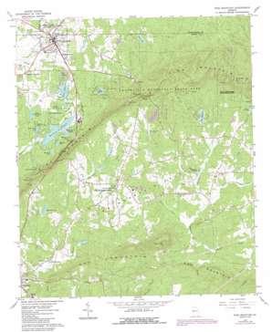 Pine Mountain topo map