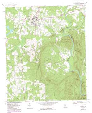 Woodbury topo map