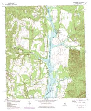 Twin Springs topo map