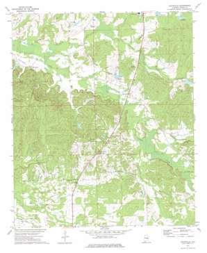 Davisville topo map