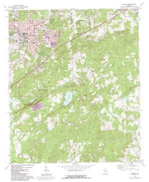 Auburn topo map