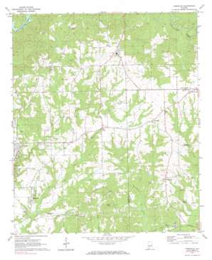 Carrville topo map