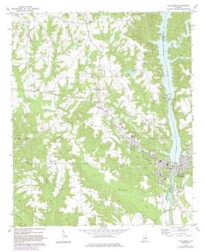 Tallassee topo map