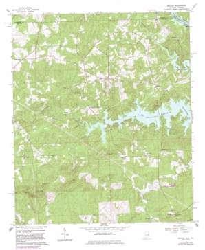 Beulah topo map