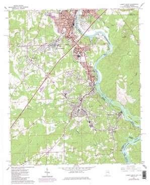 Lanett South topo map