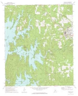 Dadeville topo map