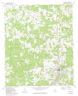 Lafayette topo map